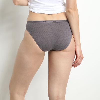 Комплект из 3 женских трусиков-слипов Les Pockets Coton черного цвета, , DIM