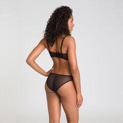 Chic Line embroidered black Brazilian briefs - DIM