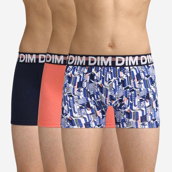 Pack de 3 bóxers tricolor Dim Boy, , DIM
