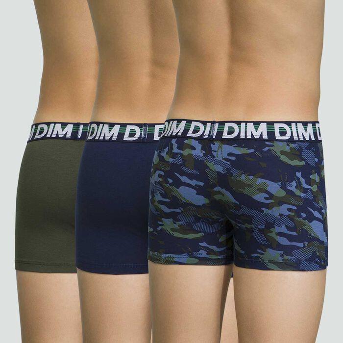 Lot de 3 boxers Matelot pour garçon en coton stretch Eco Dim, , DIM