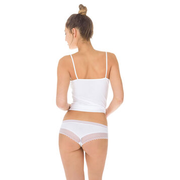 Lot de 2 shortys noir et blanc Sexy Fashion coton dentelle, , DIM