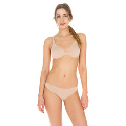Invisi Fit underwired bra in barely beige, , DIM