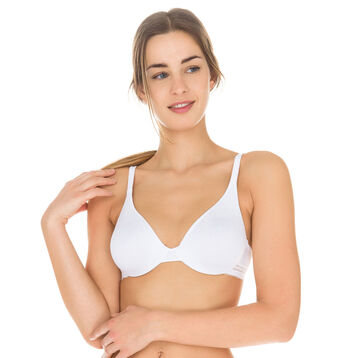 White Invisi Fit underwired bra, , DIM