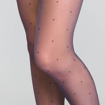 Dotted swiss Navy Blue 15 Tights - Dim Style, , DIM