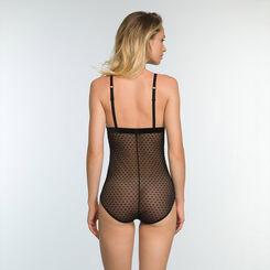 Body en tulle Imprimé Nœuds Velours sans armatures Chic Line, , DIM