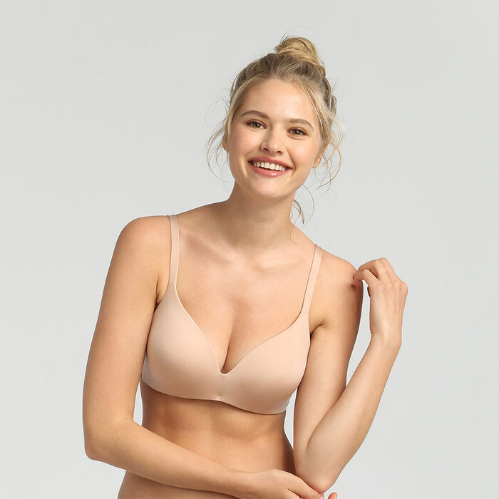 InvisiFree nude wireless padded triangle bra, , DIM