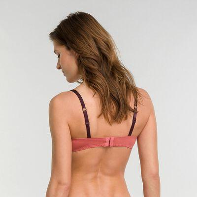 Full cup bra in cedar pink - DIM Sublim Dentelle, , DIM