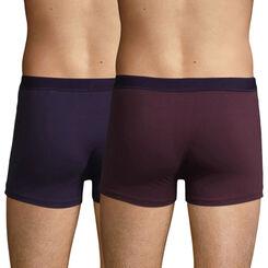 2 Pack Stretch Cotton trunks Purple Grape Velvety Violet Soft Power, , DIM