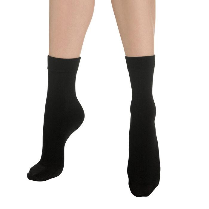 Socquettes chaudes noires Thermo Polaire-DIM