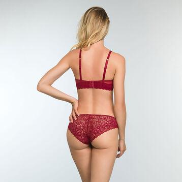 Sublim Lace Cherry Red Balconette Push up Bra, , DIM