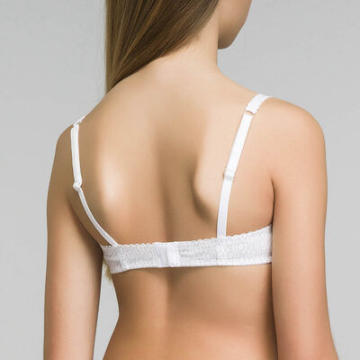 Underwired white bra for girl - Dim Touch, , DIM