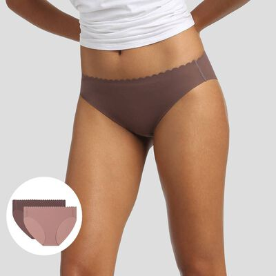 2 pack loam and stormy grey briefs Body Touch MIcrofibre, , DIM