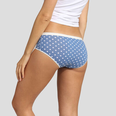 3 pack shorties retro polka dot print Dim Les Pockets Stretch Cotton, , DIM