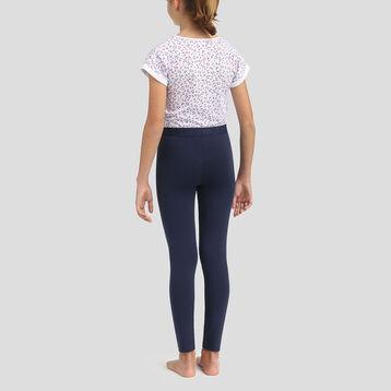 Sailor blue leggings and t-shirt cotton pyjama set Dim Girl, , DIM