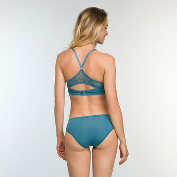 Push up Balconette Bra in Bluish Green Daily Glam Trendy Sexy , , DIM
