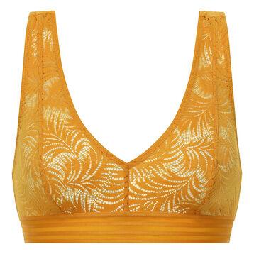 Bralette in yellow golden lace - MOD de Dim, , DIM