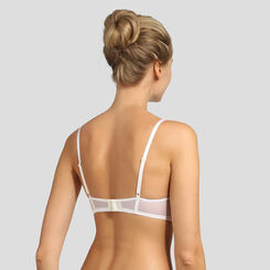 Pearly white graphic lace push-up balconette bra Daily Glam, , DIM