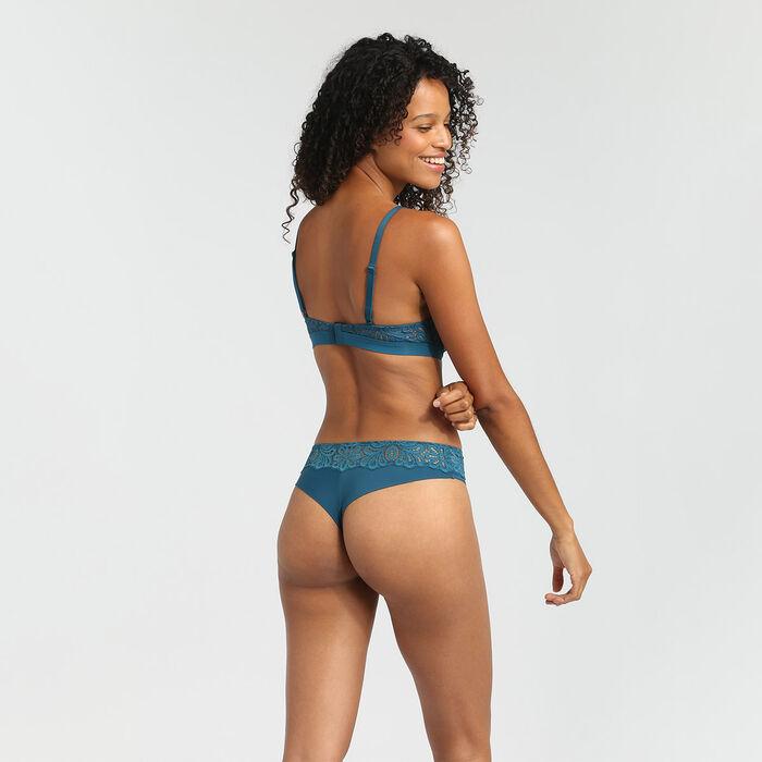 Organic blue lace push up bra Daily Glam, , DIM