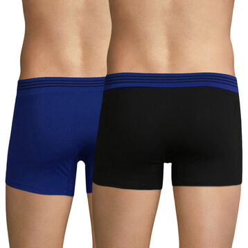 2-pack black and blue trunks - Soft Touch Pop, , DIM
