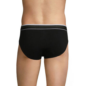 Breathable Men's brief in black cotton - Dim Sport, , DIM