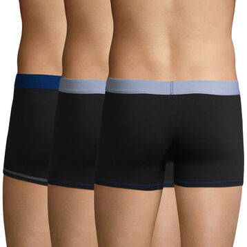 3 Pack trunks Black-Sky Blue and Black-Sky Blue Color Mix, , DIM