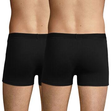 Lot de 2 boxers noirs en coton stretch soft pour homme Soft Power, , DIM