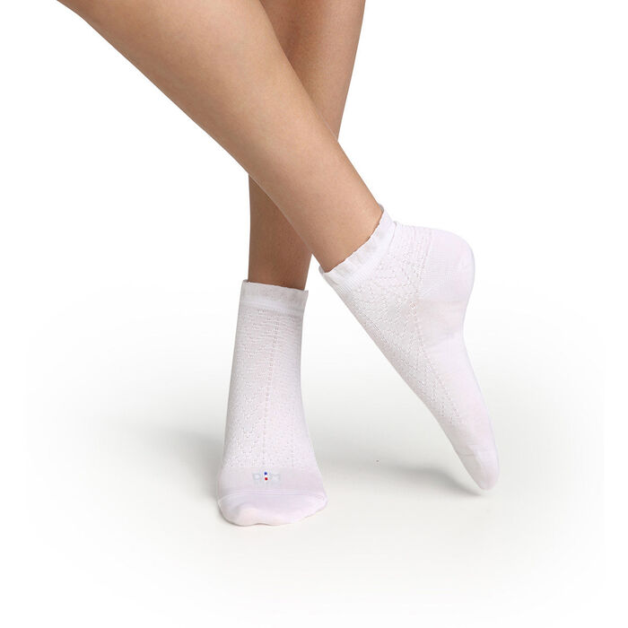 Women's sock with Scottish thread and white flying edge Dim Made in France, , DIM