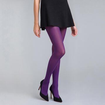 Style 50 velvety midnight purple opaque tights - DIM