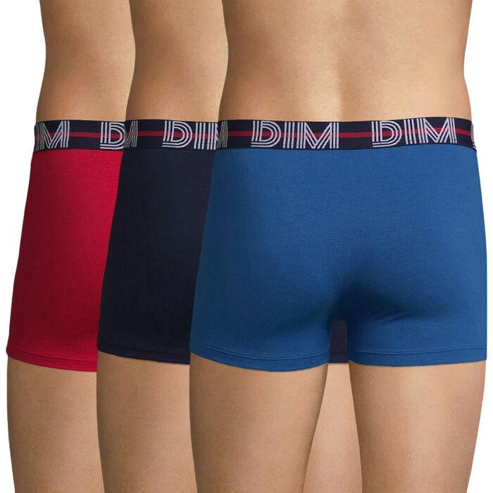 Lot de 3 boxers rouge, bleu nuit et bleu clair - Dim Powerful, , DIM