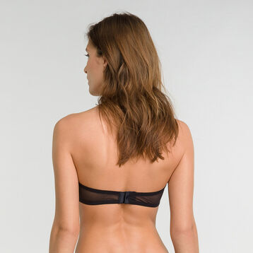 Velvet mesh band bra in black - Dim Chic Line, , DIM