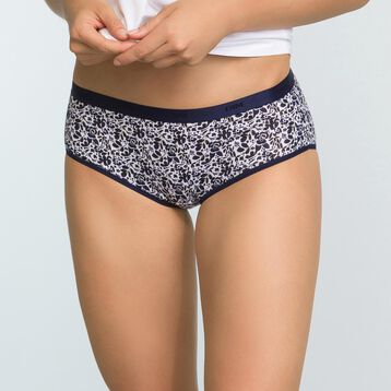 Lot de 3 shortys Imprimé Tea Time Les Pockets Coton Stretch, , DIM