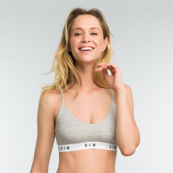 Mottled grey non-wired bra for women - DIM Originals, , DIM