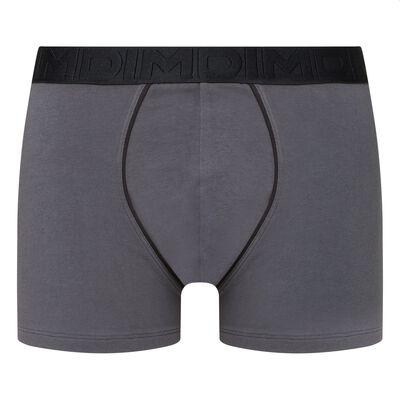 Men's stretch cotton trunks Dark grey Classic Boxer, , DIM