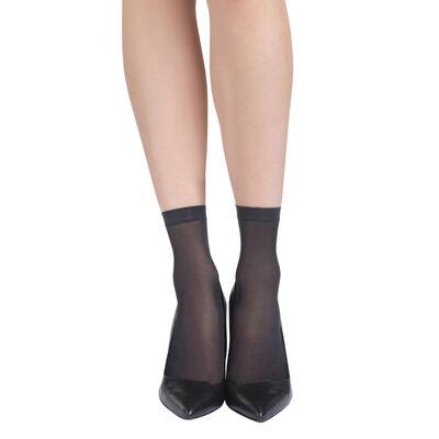 Комплект из 4 пар полупрозрачных коротких носков EcoDIM черного цвета 30D, , DIM