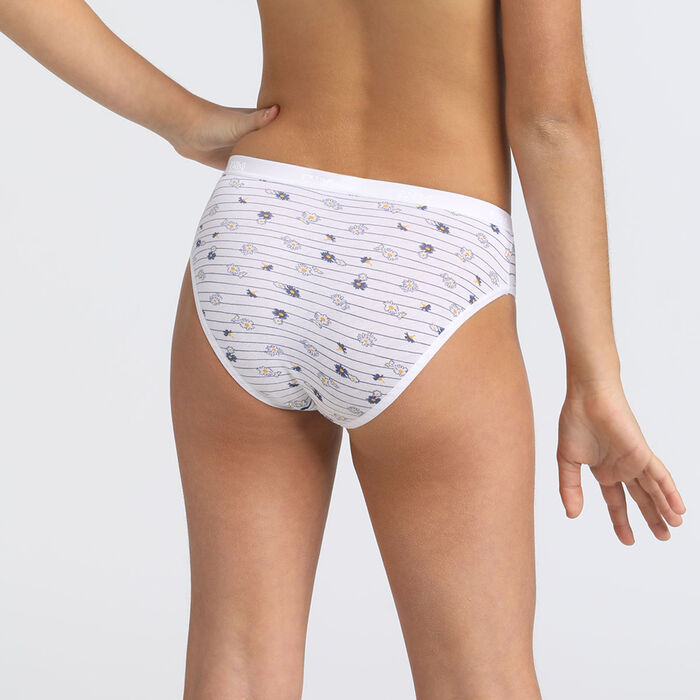 Pack of 4 plain and printed briefs Les Pockets DIM Girl, , DIM