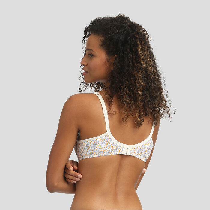 Underwired bra with mimosa print Generous by Dim, , DIM