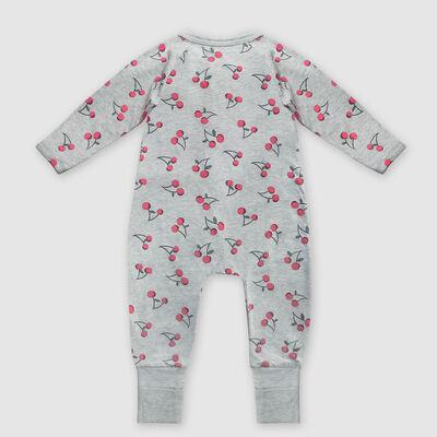 """Серая хлопковая пижама на молнии с принтом """"Вишня"""" Dim Baby, , DIM"""