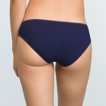 Infinite Blue microfiber embroidered briefs Generous Mod, , DIM