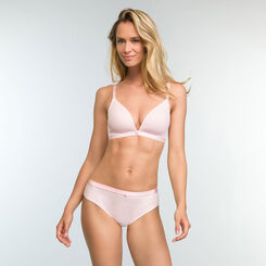 Mottled Pink Padded Triangle Bra  Casual Line, , DIM