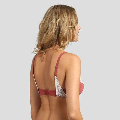 Marsala modal cotton push-up balconette bra Cosy Lady , , DIM