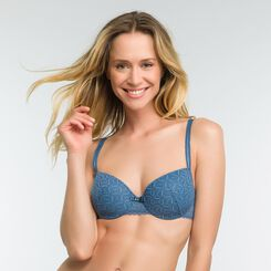 Balcony padded bra in antique blue - Dim Daily Glam, , DIM