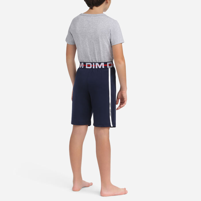 100% cotton shorts and t-shirt 2-piece pyjama set Dim Boy, , DIM