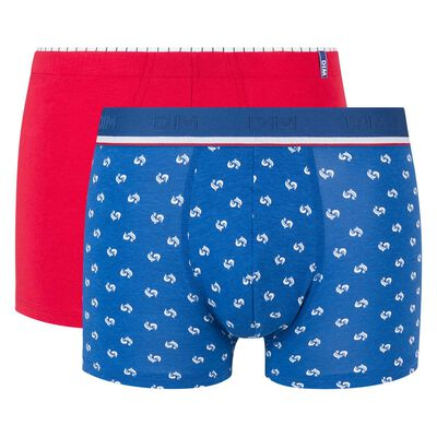 2 pack trunks in topaz and red with print Dim Euro 2020, , DIM