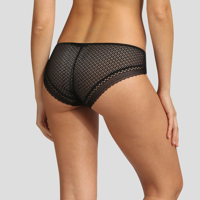 Dim Résille Chic black lace brief, , DIM
