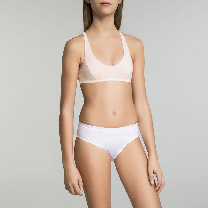 Brassière de sport blanche DIM Pocket Micro Girl, , DIM