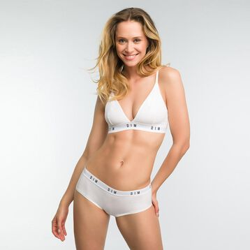White non-wired triangle bra - DIM Originals, , DIM