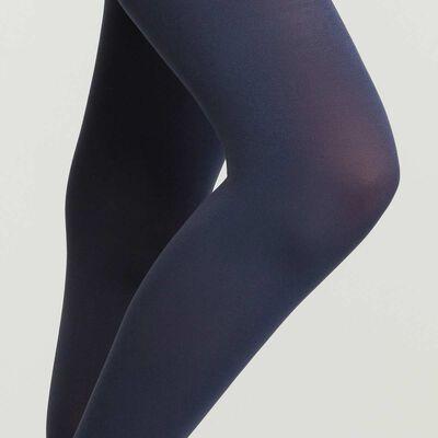 Синие непрозрачные женские колготки из микрофибры, , DIM