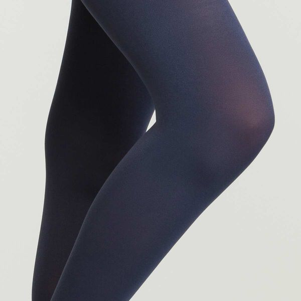 Opaque tights navy blue in small medium