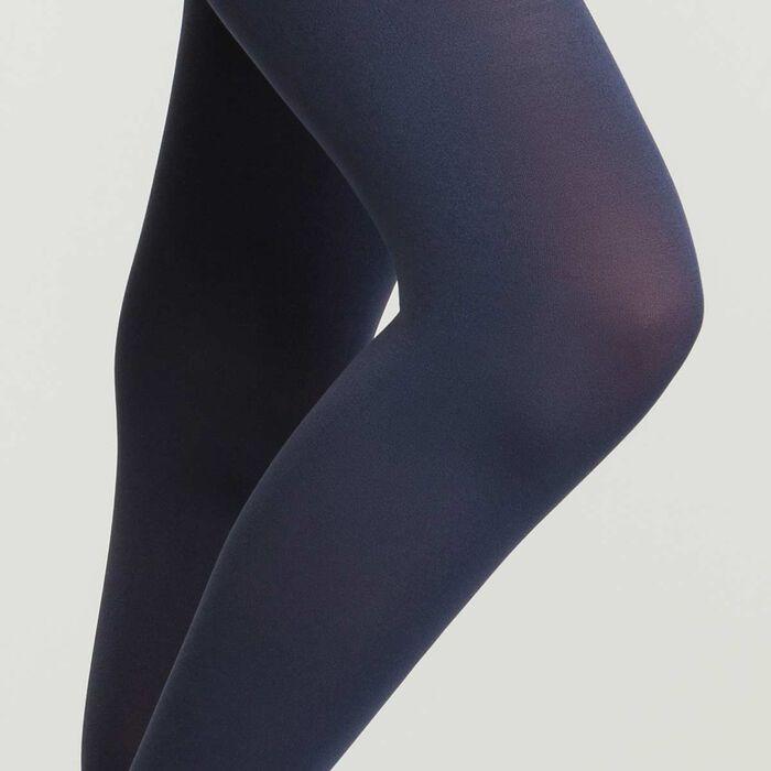Panti azul marino de microfibra para mujer Opaque Sensationnel, , DIM