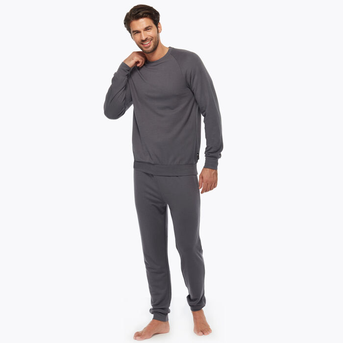 Dark Grey Men's Pyjama Set, , DIM